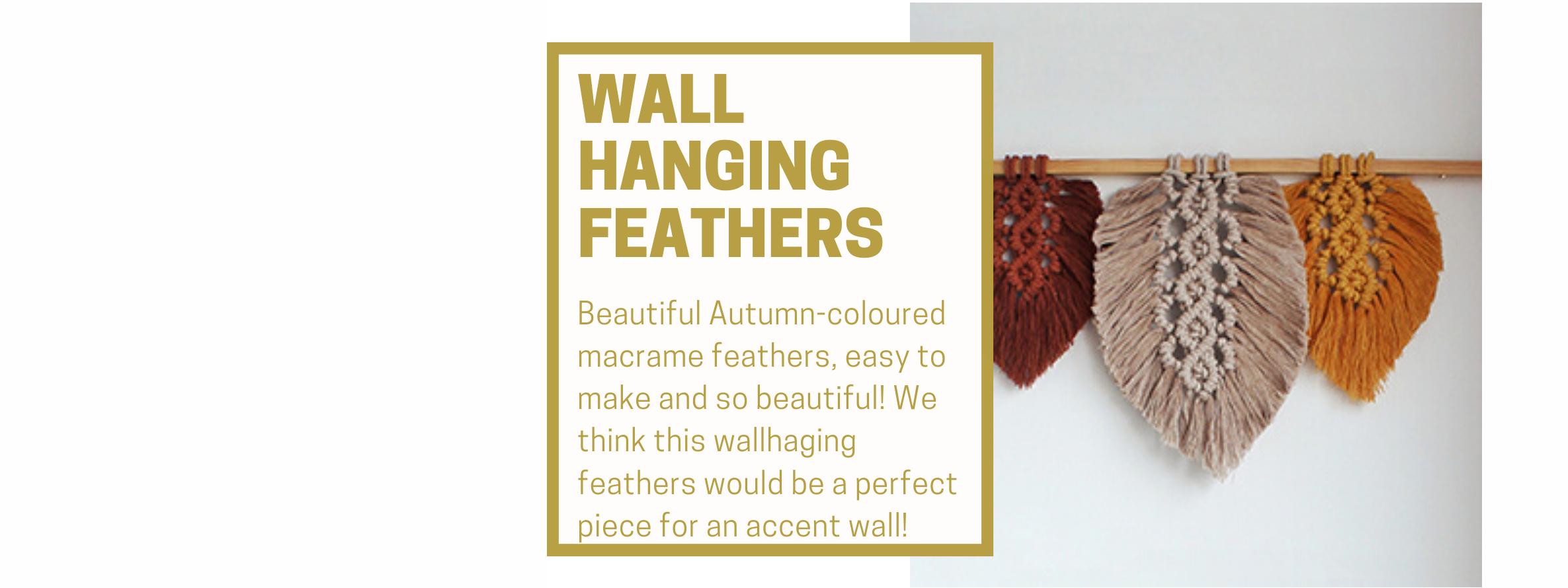 Wallhaging Macramé Feathers