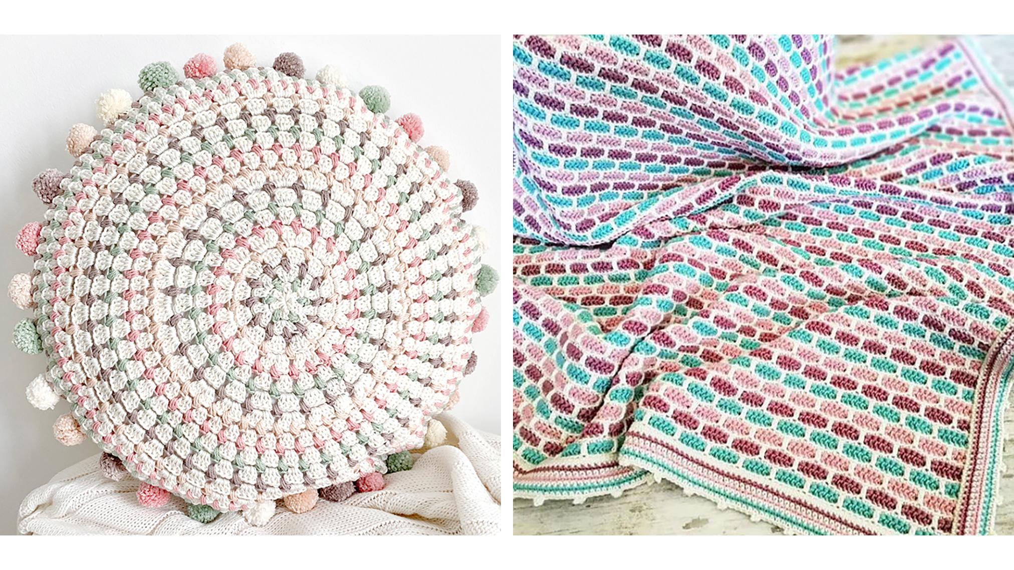 Mandala Crochet Cushion and Baby Blanket