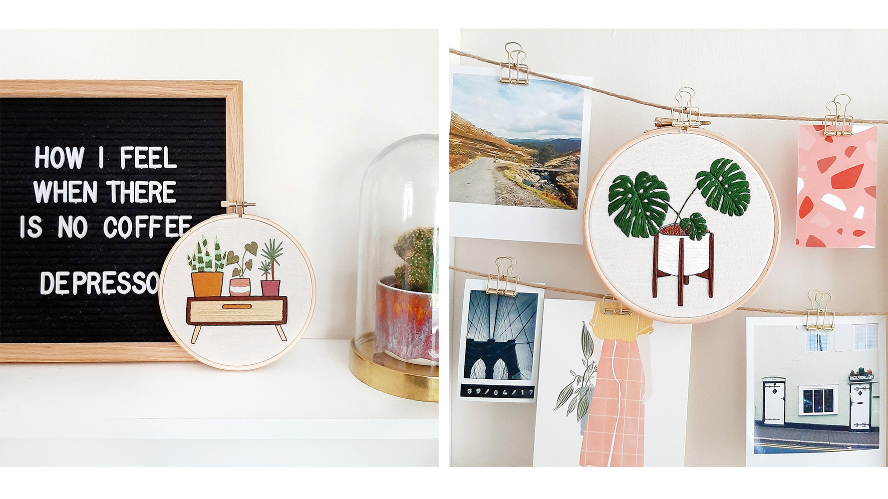 Plant Inspired Embroidery Patterns