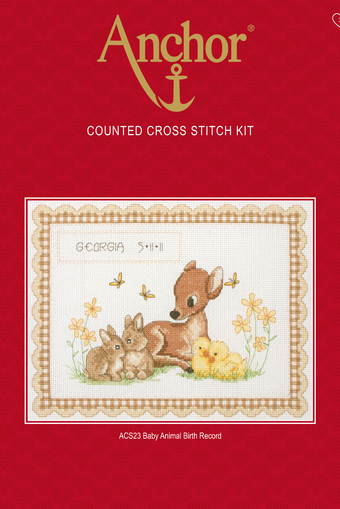 Anchor Counted Cross Stitch Kit ACS44 Cupcake Sampler