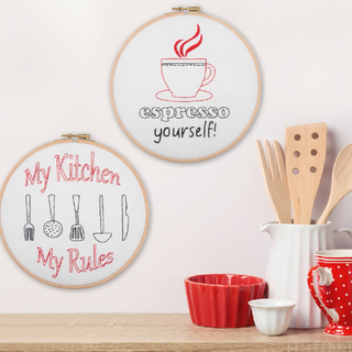 My kitchen hoop collection t