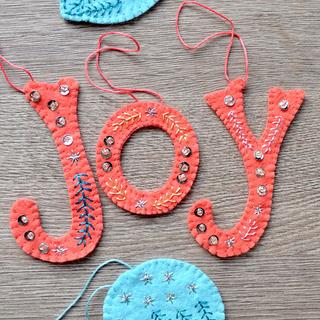 Joy Felt Ornament