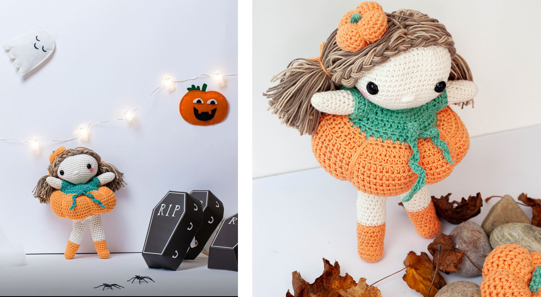 Pumpkin Girl Doll